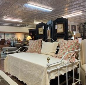 Twin Iron Bed with pop-up Trundle