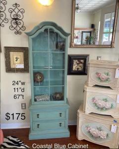 coastal blue cabinet