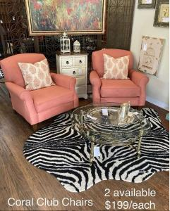 coral club chairs